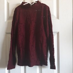 Art Class maroon top with cami